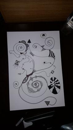 """Crazy Stuff"" Dibujo Propio - Martin Olguin"