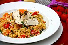 Bulgur s grilovanou zeleninou (od 9 měsíců, dle výběru zeleniny) Fried Rice, Fries, Clean Eating, Ethnic Recipes, Fitness, Blog, Bulgur, Eat Healthy, Healthy Diet Foods