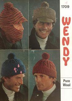 Mens Hat Knitting Pattern, Knitting Patterns, Hat Patterns, Crochet Patterns, Wooly Hats, Knitted Hats, Mens Bobble Hats, Double Knitting, Hand Knitting