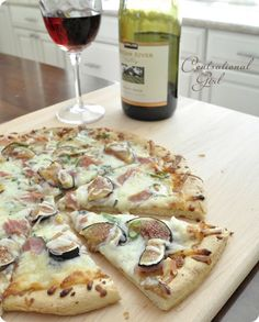 ... fig, chees flatbread, flatbreads, 4 ingredients, goat cheese, blues