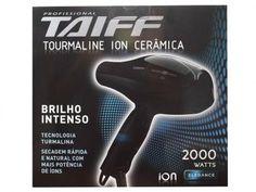 Secador de Cabelo 2 Velocidades 2000W - Tourmaline Íon Cerâmica - Taiff com as…