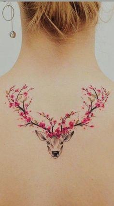 Kirschblüten Hirsch Tattoo – – small tattoo with meaning Mini Tattoos, Body Art Tattoos, Sleeve Tattoos, Tatoos, Cherry Tattoos, Tattoos For Women Small, Small Tattoos, Japanese Tattoos For Women, Hirsch Tattoo