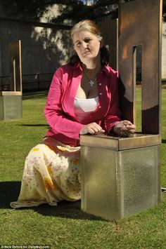 'It doesn't get easier': Aren Almon-Kok, pictured at the memorial for her daughter Baylee, who was killed in the Oklahoma City bombing of 1995 the day after her first birthday