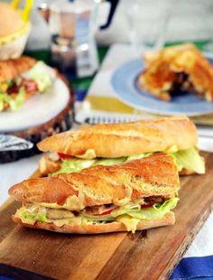 3 extra laktató szendvics, ha éhen halsz | Street Kitchen Recipes From Heaven, Breakfast For Dinner, Street Food, Pizza, Bacon, Sandwiches, Food Porn, Food And Drink, Tasty