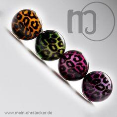 Ohrstecker mit Leopardenmuster in verschiedenen Farben-126xx