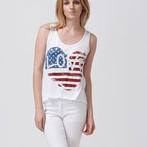 Love in the USA! What a cute tank to wear this spring with pride.