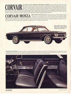 '62 Chevy Corvair interior.
