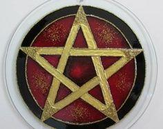 Mandala vitral Pentagrama 20cm