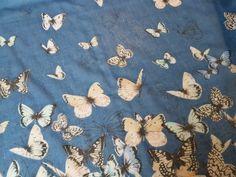 Blue night and butterflies
