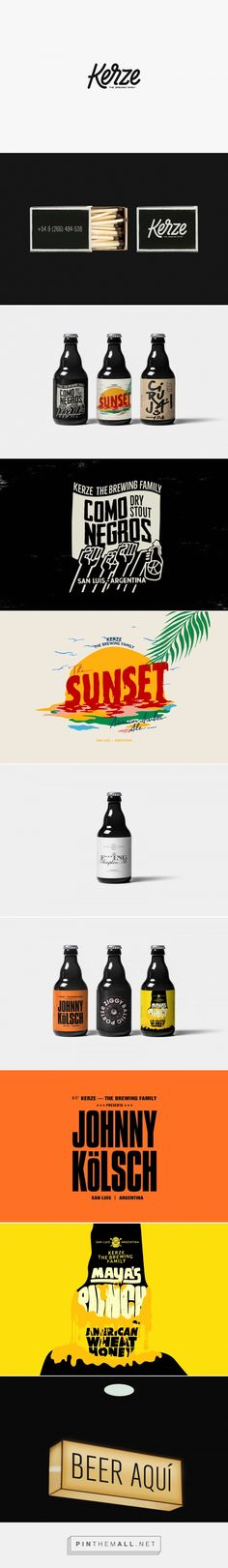 Kerze packaging design by Amateurdotrocks - http://www.packagingoftheworld.com/2017/09/kerze-brewing-family.html