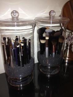 Keeping my makeup brushes dust free!