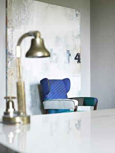 Cute chair & old wall paint