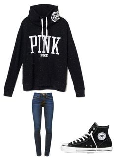 """"""""""" by melodyleighmitchell on Polyvore featuring Converse and Frame Denim"""
