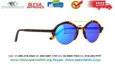 Illesteva Milan 2 Havana With Blue Mirror Sunglasses Illesteva Sunglasses, Mirrored Sunglasses, Blue Mirrors, Havana, Milan