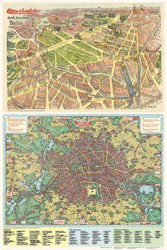 Bildpläne von Berlin 1937+1930