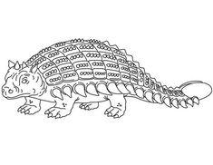 Ankylosaurus, : Angry Dinosaurus Ankylosaurus Coloring Page Online Coloring Pages, Coloring Sheets, Free, Colouring Sheets, Printable Coloring Pages