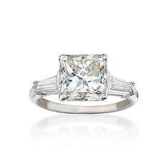 3.38 carat princess cut diamond, more than i make in year, but mmm.