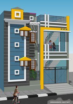 Single Floor House Design, Modern Small House Design, Classic House Design, Modern Villa Design, House Front Design, Front Elevation Designs, House Elevation, Building Elevation, Bungalow Haus Design