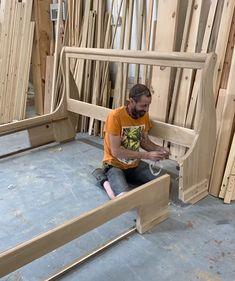 Handmade Solid Wooden Beds & Solid Oak Bed Frames By Revival Beds Oak Bed Frame, Solid Wood Bed Frame, Bed Frame And Headboard, Wooden Bed Frames, Room Design Bedroom, Modern Bedroom Design, Modern Design, Simple Bed Designs, Bed Designs With Storage