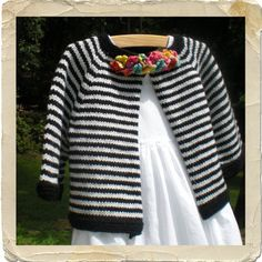 NobleKnits.com - Heirloom Stitches Brittany Striped Baby Cardigan Knitting Pattern, $6.95 (http://www.nobleknits.com/products/Heirloom-Stitches-Brittany-Striped-Baby-Cardigan-Knitting-Pattern.html)