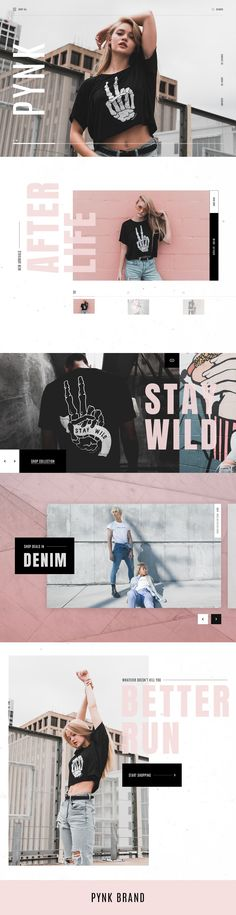 Pynk by Katie Kindness I love the photography used in this design, as well as the color scheme Website Design Inspiration, Layout Inspiration, Graphic Design Inspiration, Book Design Layout, Web Layout, Email Layout, Diy Design, Page Design, Branding