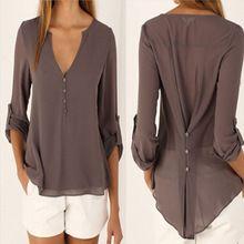 2017 nueva moda de gran tamaño de La Blusa Mujeres Cool Casual Blusas Chemise Femme puls tamaño Tops 4xl 5xl