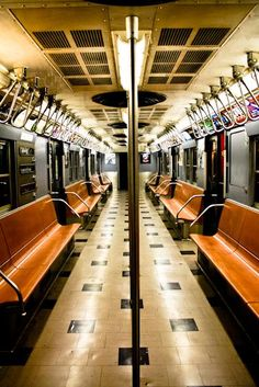 Photography - New York City Subway in Blue and Orange