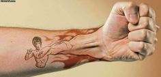 Funny pictures about Bruce Lee Tattoo. Oh, and cool pics about Bruce Lee Tattoo. Also, Bruce Lee Tattoo photos. Fist Tattoo, See Tattoo, Tattoo You, Epic Tattoo, Hand Tattoos, Body Art Tattoos, Tatoos, One Punch Man, Main Manga