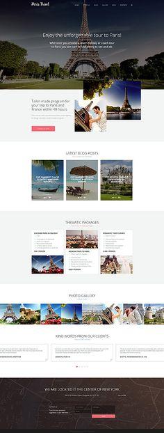 Paris Travel Site #Joomla #template. #themes #business #responsive #Joomlathemes