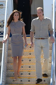 Prince William and Kate Middleton Make a Matching Royal Tour Stop