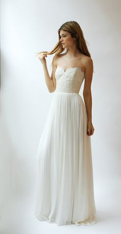Silk and Lace Gown--Sample Sale--Size 2