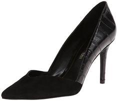 awesome Enzo Angiolini Women's Tylyn Dress Pump,Black/Black,6 M US