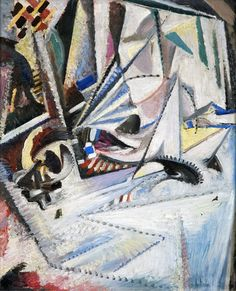 Schmalzigaug 1915/1916 Futurism Art, Figurative Art, Picasso, Futuristic, Scene, The Incredibles, Painting, Cubism, Colors