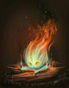 (With Question 21:) I like this rendition of Calcifer here.~Jamie {Calcifer, studio ghibli}