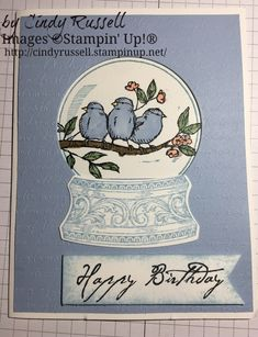 Still Scenes-Birds card. Lilac Hair, Pastel Hair, Gray Hair, Blue Hair, Slider Cards, Bird Cards, Card Tags, Paper Cards, Cute Cards