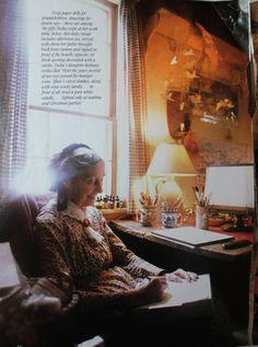 Tasha Tudor in Victoria magazine, 1996 . http://thecharmofhome.blogspot.com/2010/08/tasha-tudor.html