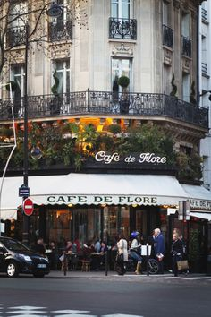 Cafe de Flore, Paris - my favourite coffe - in the red couches...
