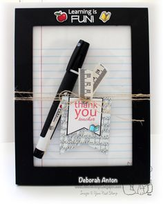 YNS Supplies: Learning is fun stamp set and coordinating die set | Banner die set