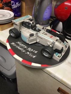 Lewis Hamilton's world championship formula one car birthday cake. Awesome!