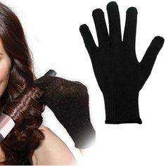 High Quality 1 Pcs Professional Heat Resistant Glove Hair Styling Tool For Curling Straight Flat Iron Black