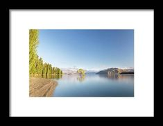 Wanaka Tree New Zealand Landscape Mountain Lake Framed Print by Joshua Small. All framed prints are professionally printed, framed, assembled, and shipped within 3 - 4 business days and delivered ready-to-hang on your wall. Choose from multiple print sizes and hundreds of frame and mat options. Wall Prints, Framed Art Prints, New Zealand Landscape, Framed Wall Art, Photo Wall Art, Fine Art America, Scenery, Mountain, Wall Decor