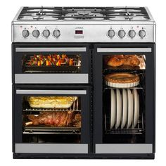 Lamona Range Cooker - gas hob (always had electric and it doesn't compare) - and a plate warming rack!