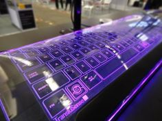 The Luminae Glass Keyboard By TransluSense Is A Thing Of Beauty #CES2013 #gadgets #tech @Ubergizmo... WOOOOOOOOOOOWWWWWW