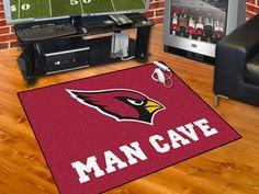 "NFL - Arizona Cardinals Man Cave All-Star Mat 33.75""x42.5"""