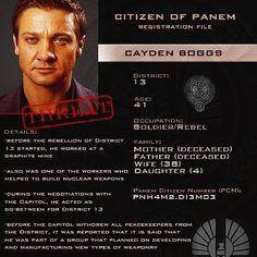 Citizen of Panem Identification Card : Cayden Boggs