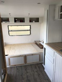 Hi, my name is Natasha! I'm a 28 year old wife and mother of 2 boys aged 6 and and a 2 year old daughter. Six months ago after going cam Caravan Renovation Diy, Diy Caravan, Caravan Makeover, Retro Caravan, Camper Caravan, Caravan Ideas, Small Caravans, Vintage Caravans, Glamping
