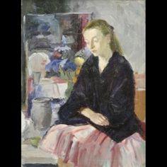 Artiste Anonyme du XIXe siècle Modèle dans l'atelier du peintre Huile sur toile 59 x 43,5 cm.