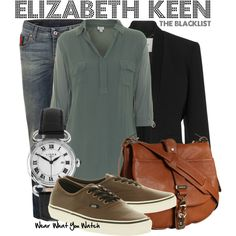 Inspired by Megan Boone as Elizabeth Keen on The Blacklist.