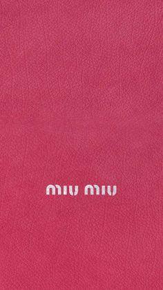 ミウミウ/キラキラロゴピンクレザー iPhone壁紙 Wallpaper Backgrounds iPhone6/6S and Plus MIUMIU