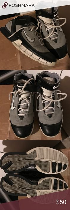 Nike Huarache 2k5 size 11 Worn with tons of life left. Shoes have only been worn indoors. All traction still visible. No major flaws other than paint on left swoosh peeling off. No box. Nike Shoes Sneakers